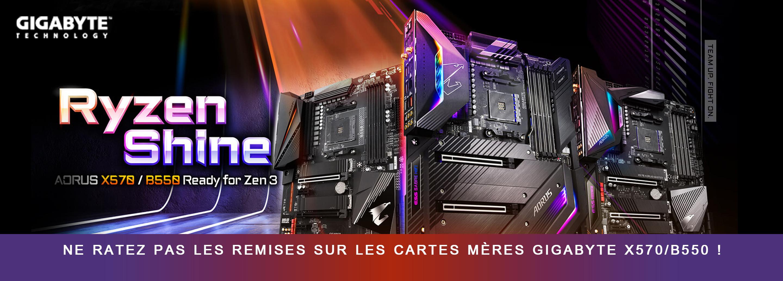 Gigabyte MB X570 B550 promo